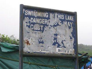 Danger sign, Bhusi Dam, Lonavla, India