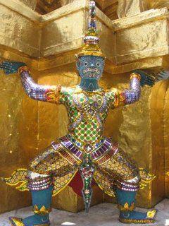 From the Grand Palace, Bangkok, Thailand