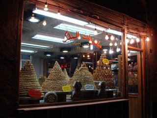 Sweets in downtown Damascus, Syria