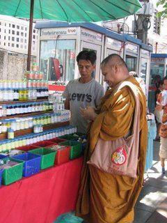 Haggling Monk, Bangkok, Thailand