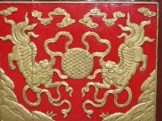 Temple door detail, Shanghai, China