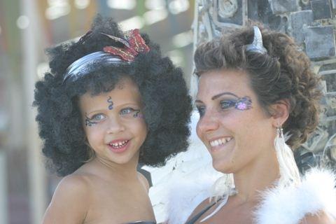 Burning Man Afro Kid