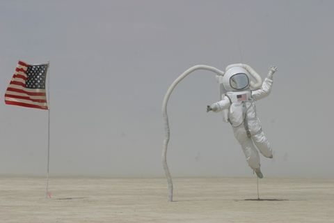 Burning Man Astronaut