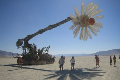 Burning Man Cherry Picker