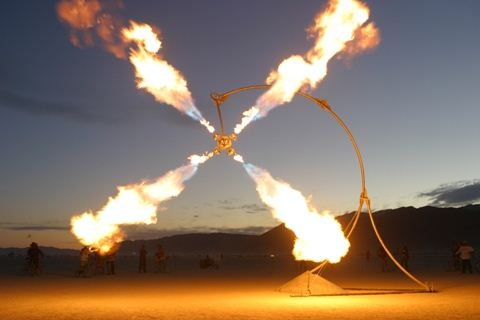 Burning Man Flames