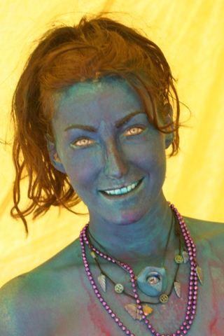 Burning Man Green Lady