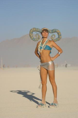 Burning Man Horns Girl