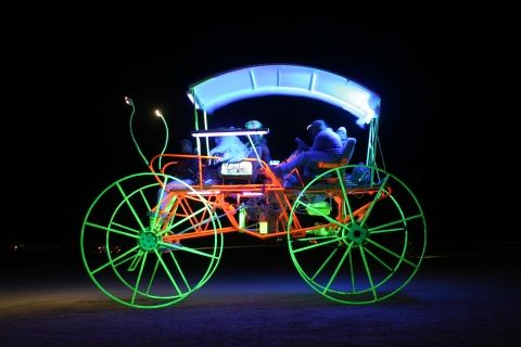Burning Man Neon Coach