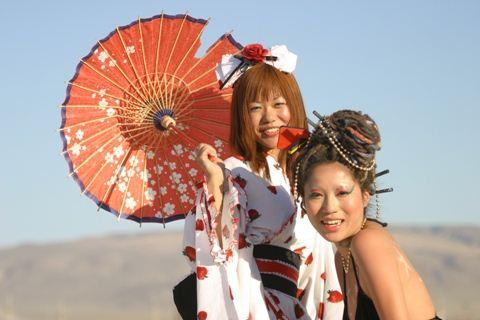Burning Man Parasol