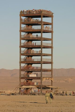 Burning Man People Tower