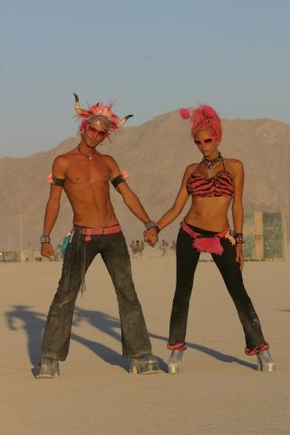 Burning Man Pink Couple