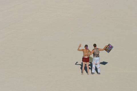 Burning Man Sand Couple