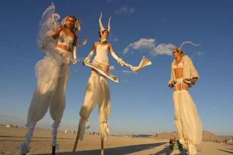 Burning Man White ladies