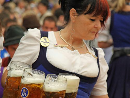 Waitress Oktoberfest in Munich