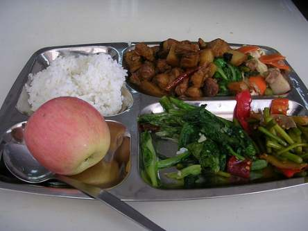 typical school lunch in china
